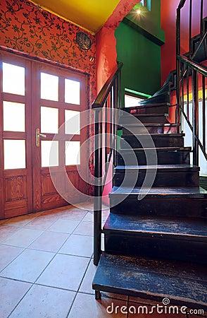 Cafe stairways