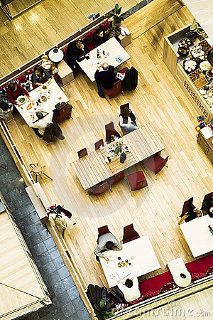 Free Cafe. Top View. Stock Images - 1940364