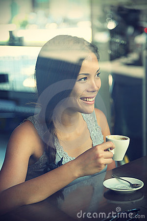 Free Cafe Woman Royalty Free Stock Photography - 15662267