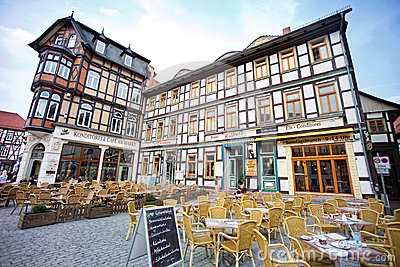 Cafes in Wernigerode Editorial Image