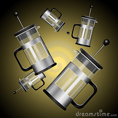 Cafetiere chaos.