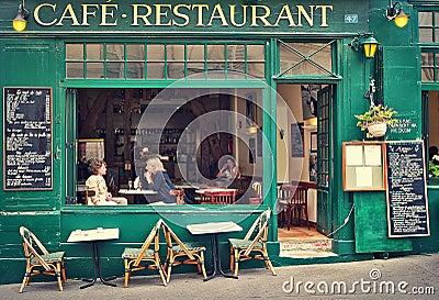 caff parigino tipico fotografia editoriale immagine