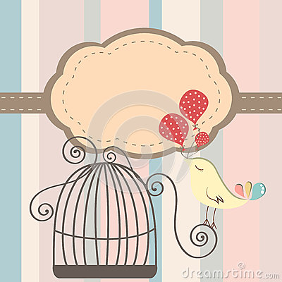 Cage bird invitation