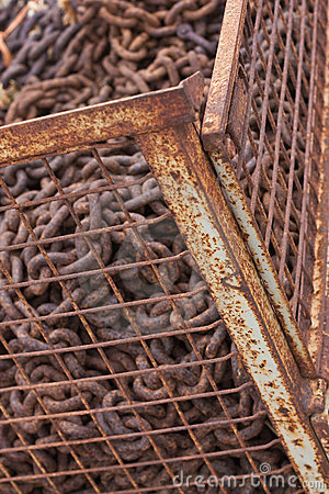 Cage with scrap iron