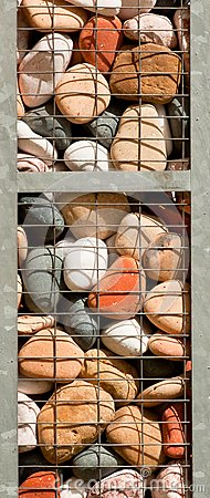 Caged Colorful Stones