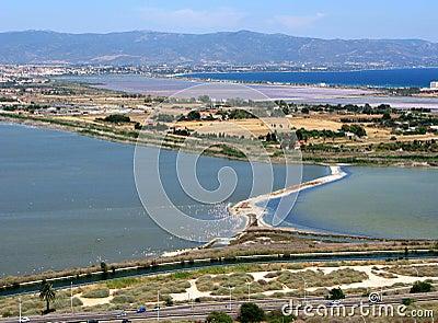 Cagliari capital of the island Sardinia Italy