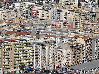 Cagliari suburb houses Editorial Image