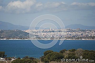 Cagliari widok
