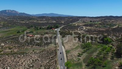 Cahuilla Tewanet Vista Point - view from above, CA, USA stock video footage