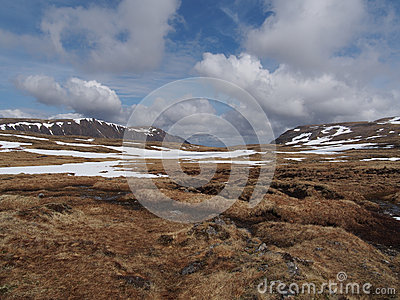 Cainrgorms plateau, południe Braeriach, Szkocja w wiośnie