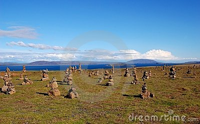 Cairns  field in Iceland