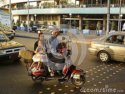 Cairo family ride Editorial Photography