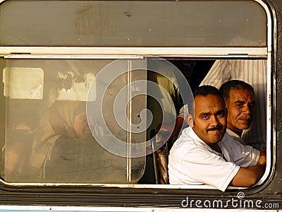 Cairo folk Redaktionell Arkivbild