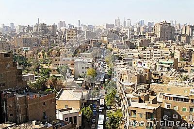 Cairo neighbourhood Editorial Stock Photo