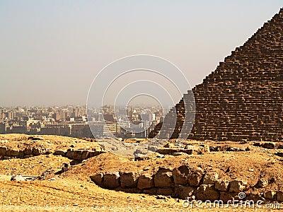 Cairo and pyramid