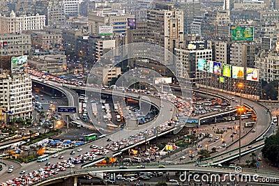 Cairo traffic Editorial Stock Photo