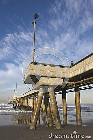 Cais na praia Califórnia de Veneza