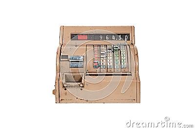 Caisse comptable ancienne