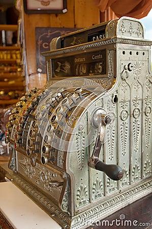 Caisse comptable antique