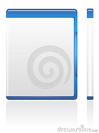 Caixa azul de DVD