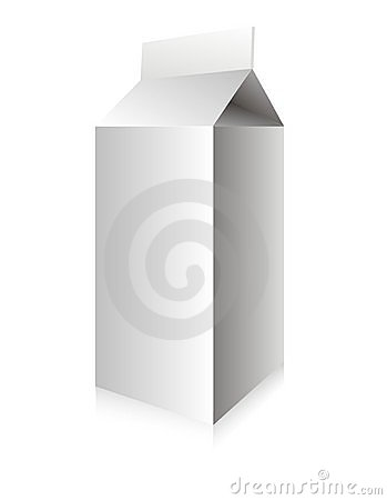 Caixa branca do leite do vetor