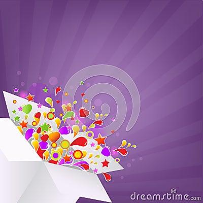 Caixa colorida