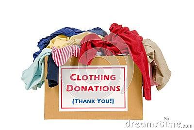 Caixa da doação da roupa