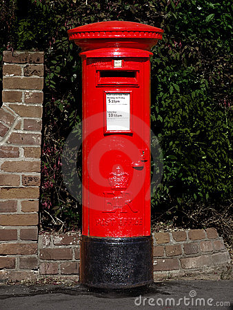 Caixa de estação de correios britânica