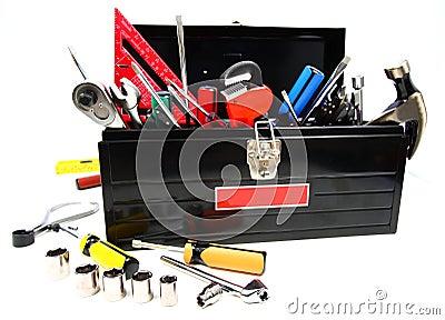 Caixa de ferramentas cheia