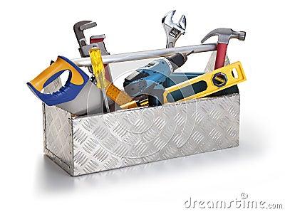 Caixa de ferramentas com ferramentas