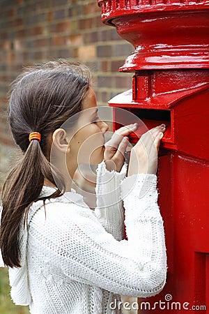 Caixa de letra vermelha