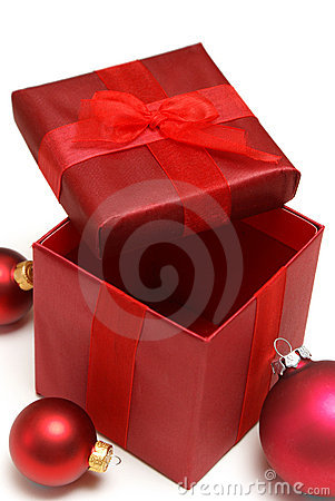 Caixa de presente do feriado