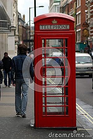 Caixa de telefone de Londres Fotografia Editorial