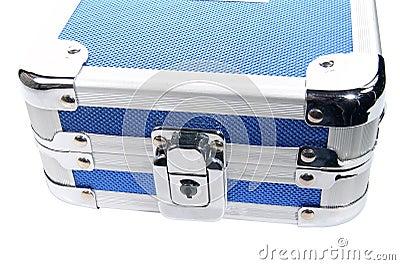 Caixa metálica azul