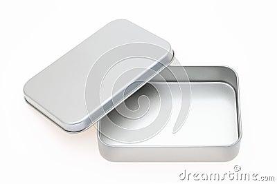 Caixa vazia do metal