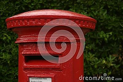 Caixa vermelha britânica do borne