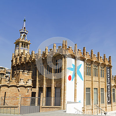 Caixaforum Museum, Barcelona, Spain. Editorial Photography