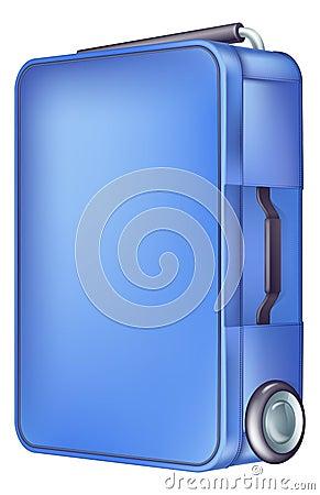 Caja azul moderna de la carretilla