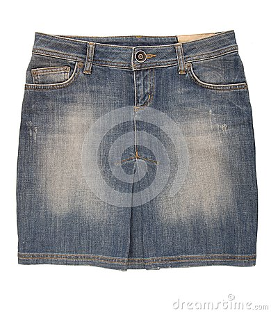 Cajgowa mini spódnica