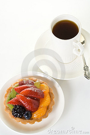 Free Cake And Cup Of Coffee Stock Photography - 3197702