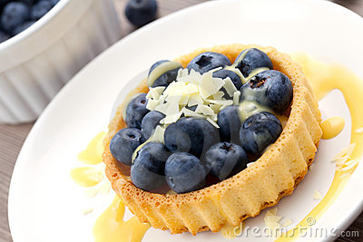 Cake with bilberry