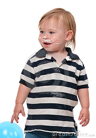 Cake on Boy s Face