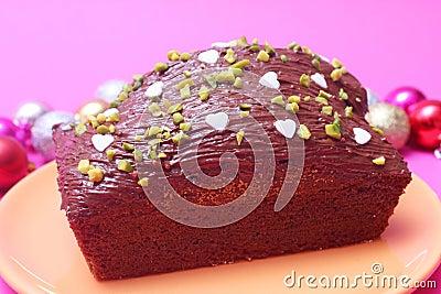 Cake with chocolate