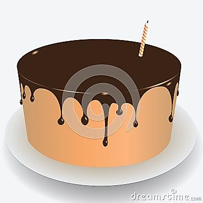 Cake chocolate icing