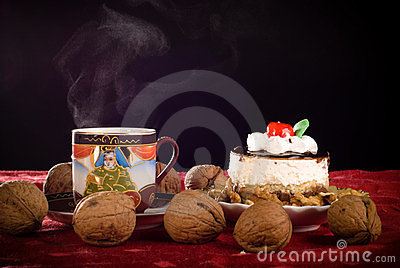 Cake and coffe