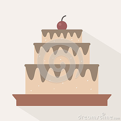 Cake Vector Illustration