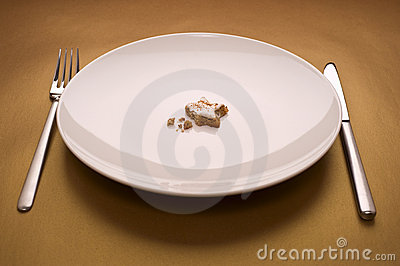 Cake on dish