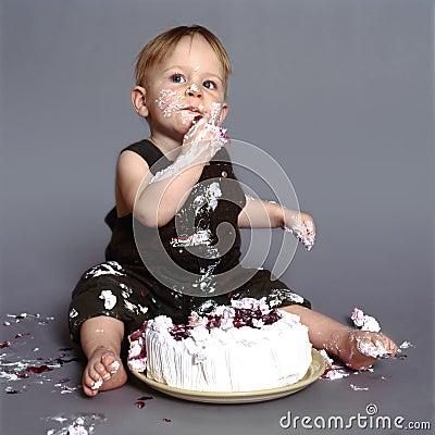 Free Cake Eater Stock Photo - 2599400
