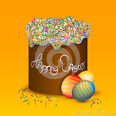 Cake and eggs Stock Photo