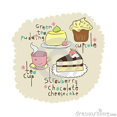 Cake elements design